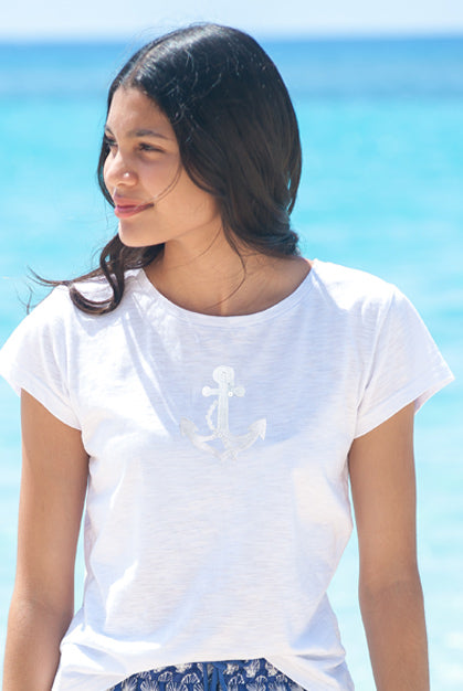 At Anchor Pure Cotton Tee KV394A
