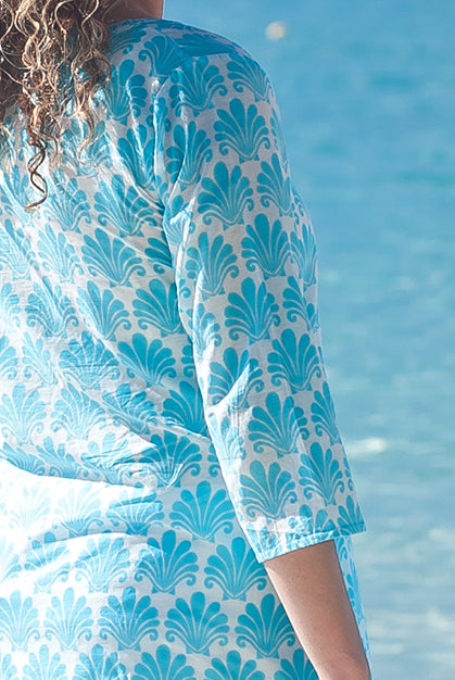 Deco Shell Cotton Beach Tunic Coverup KV433