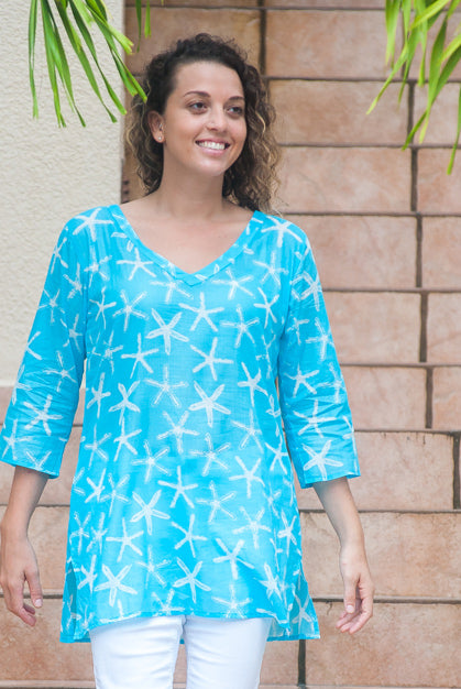 Wishes Cotton Beach Tunic Coverup KV420