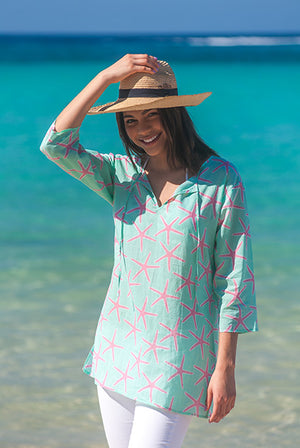 St.Barths Starfish Cotton Beach Tunic Cover Up KV371