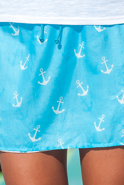 Anchors Ahoy Cotton REVERSIBLE Skirt KV416