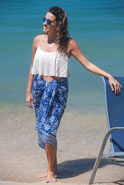 Fireworks Turtle Printed Cotton Sarong Pareo KVFWTT