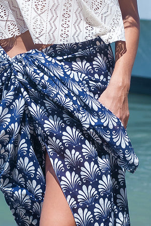 Deco Shell Printed Cotton Sarong Pareo KVDECO