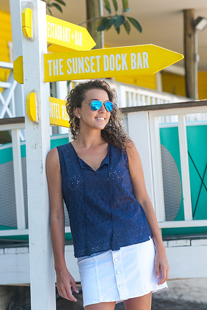 Caribbean Cotton Tank Top KV425
