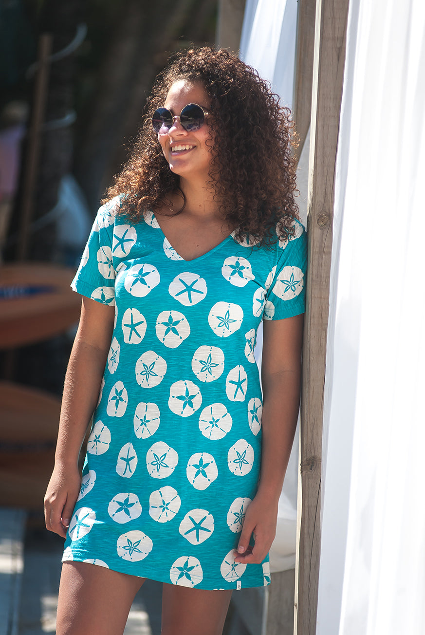 Sand Dollar Cotton Beach Dress KV436