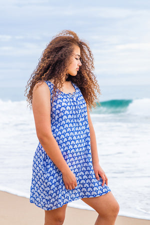 Peacock Cotton Beach Dress KV458