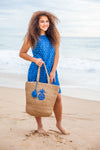 Blue Hawaii Cotton Dress KV475