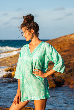 Ocean Tunic Cotton Beach Tunic Coverup KV468