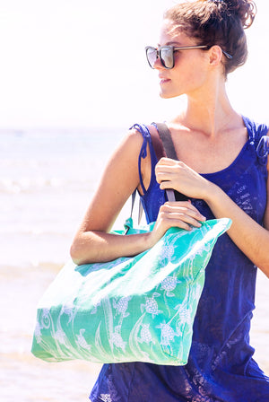 New Turtle Cotton Beach Bag KVBBTT