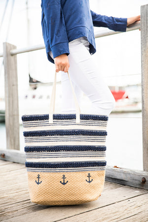Nautical Jute Beach Bag KVJBNT