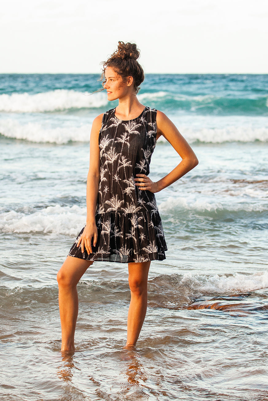 Palm Island Tank Cotton Dress KV467