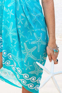 Seastar Printed Cotton Sarong Pareo KVSEST