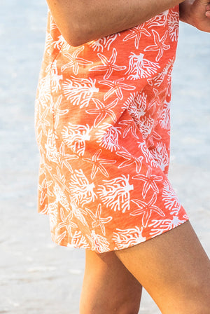 Coral Reef Beach Cotton Dress KV493
