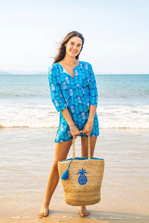 Mahalo Cotton Beach Tunic Coverup KV507