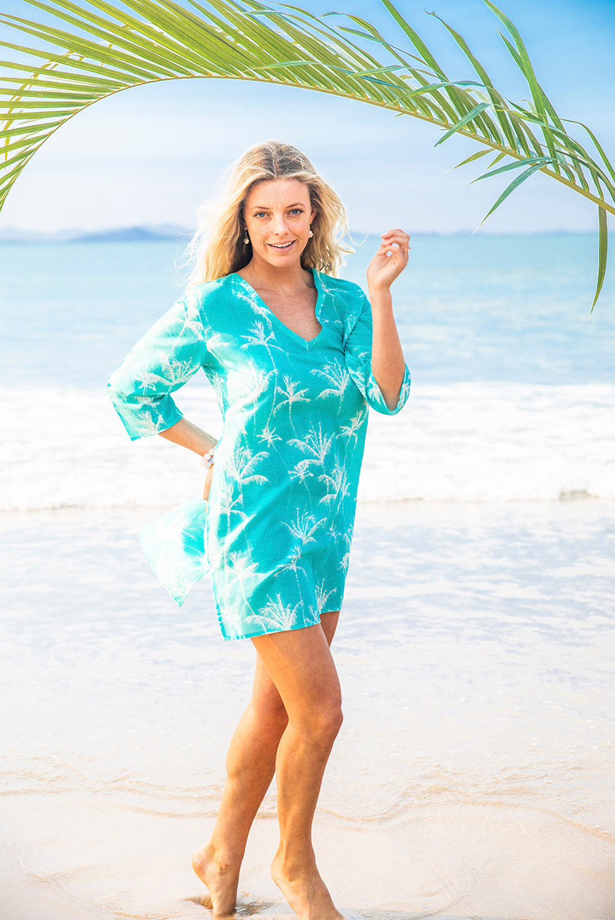 Palm Island Cotton Beach Tunic Coverup KV522