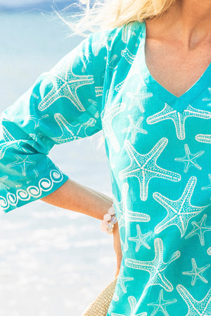 Sea Star Cotton Beach Tunic Coverup KV523