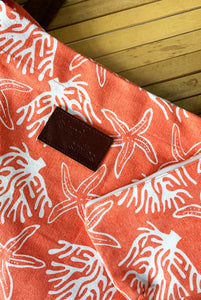 Coral Reef Cotton Beach Bag KVBBCR