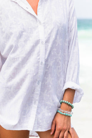 Seastar Cotton Beach Shirt Coverup KV519