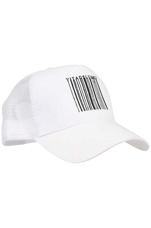 BARCODE WHITE TRUCKER