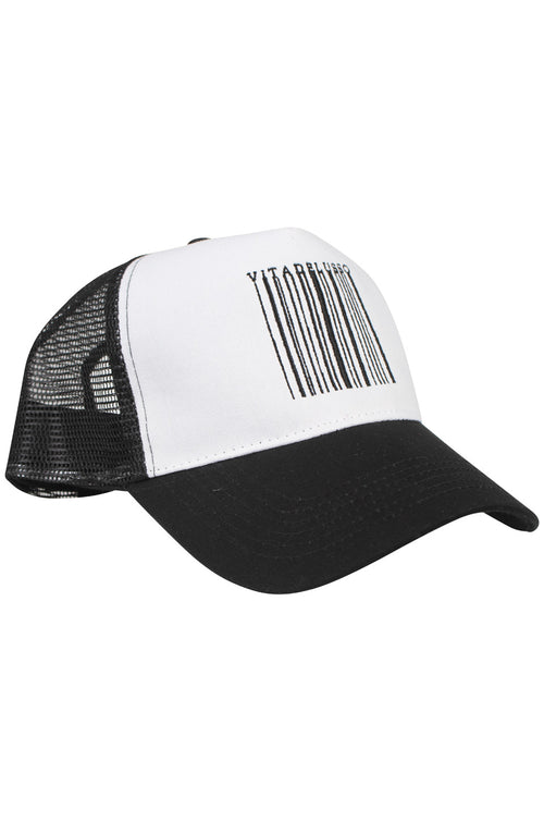 BLACK AND WHITE BARCODE TRUCKER