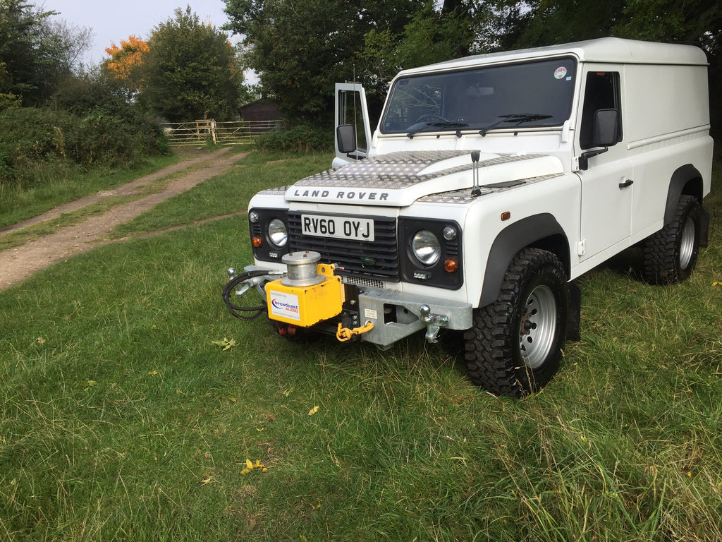 Landrover 110 with Dual Hydraulic Winch (POA please call)