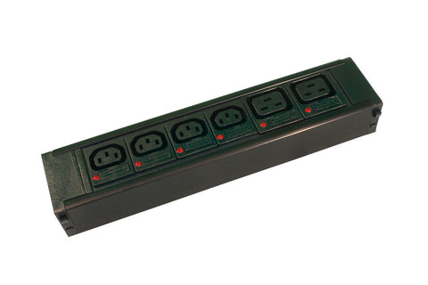 4 X IEC C13, 10Amp + 2 X IEC C19, 16Amp, Individually Fused,10Amp  Socketed, Hot Swap Module for PDU Chassis
