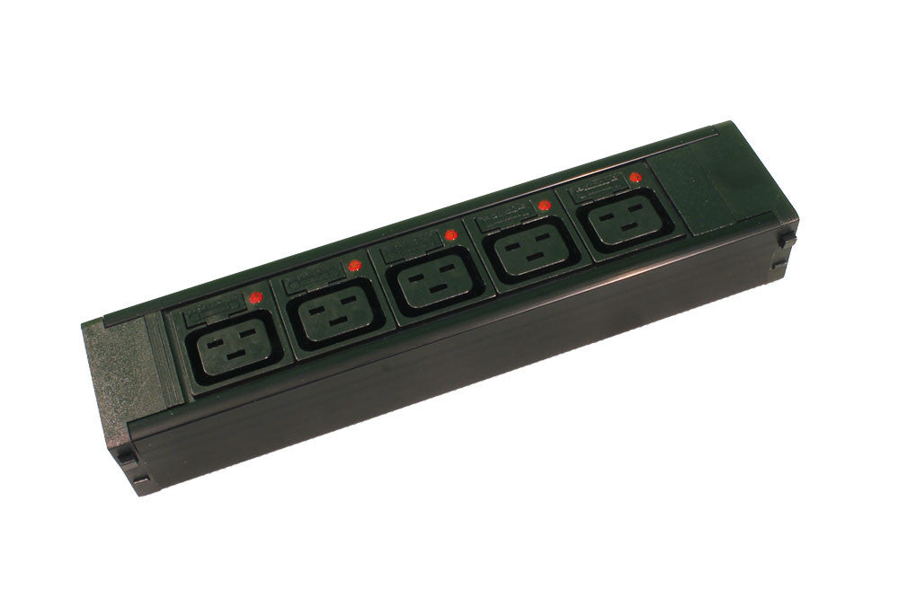 5 X IEC C19, Individually Fused,16Amp  Socketed, Hot Swap Module for PDU Chassis