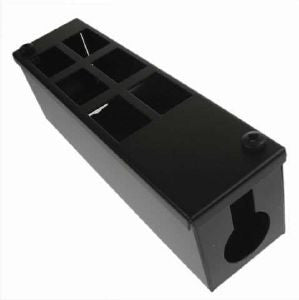 Vertical 6-way Data Box-6 x 6C data cut-outs in 2 x 3 rows with 1 x 25mm gland hole