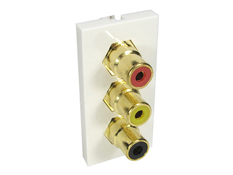 RCA (Red, Yellow, Black) Euro Mod - 50mm x 25mm  - Coupler Type