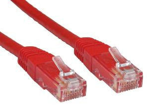 Cat6 Patch Lead Slim-line moulded boots 1.5 Mtr  Red  24 AWG 250MHz