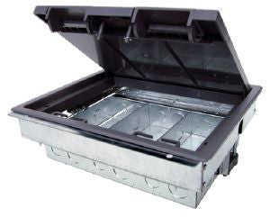 2 compartment raised floor box (empty)