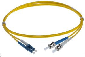 0.5m LC-ST singlemode - 2mm duplex patchcord YELLOW