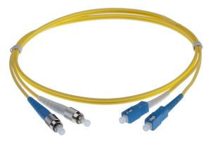 10m FC-SC singlemode - 3mm duplex patchcord YELLOW