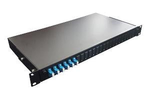 LC Duplex 12 port 24 position patch panel loaded with 6 LC duplex singlemode adaptors