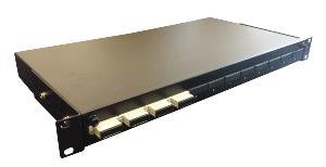 Unloaded Front sliding fibre patch panel for up to 12 SC Duplex or 12 LC Quad adaptors
