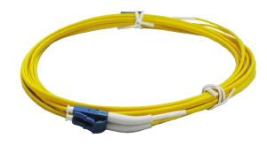 3m LC-LC singlemode - 2mm duplex patchcord c/w 45 degree boot one end