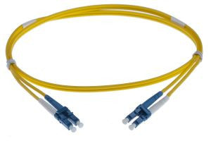 1m LC-LC singlemode - 2mm duplex patchcord YELLOW