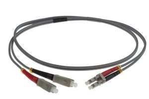 1m LC-SC 62.5/125um - 2mm duplex patchcord GREY