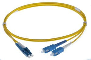 1m LC-SC singlemode - 2mm duplex patchcord YELLOW