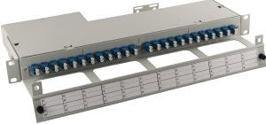 48 Port 24 position Singlemode Duplex LC Slim-Line High Density Side cable entry Fibre patch panel