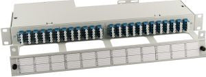 96 Port 24 position Singlemode Quad LC Slim-Line High Density Side cable entry Fibre patch panel