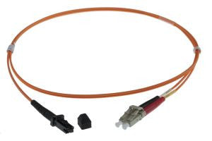 1m MTRJ-LC 50/125um - 2mm duplex patchcord ORANGE