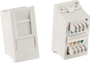 Matrix Euro Cat5e RJ45 Shuttered Module - Full depth