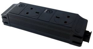 Under Desk P-Pack 2 x individually fused sockets orientated west / east