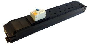 Under Desk P-Pack 4-way power feed unit with 16A RCBO