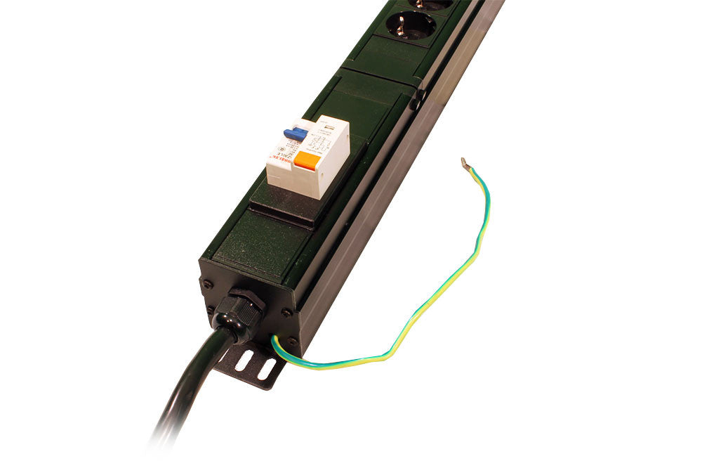 4-Compartment PDU Chassis With Digital Ammeter, RCBO Protection To 3-Metre 32A Commando Plug Lead