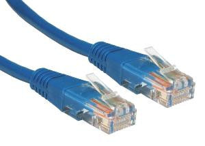 0.5 m Blue Cat5e Patch Lead  24 AWG  100MHz