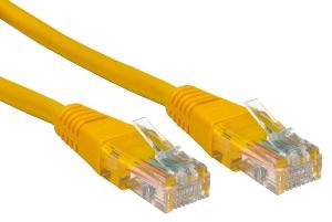 0.25 m Yellow Cat5e Patch Lead  24 AWG  100MHz