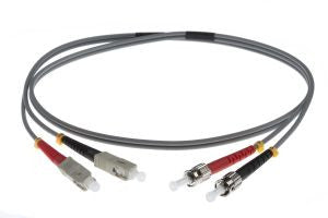 1m SC-ST 62.5/125um - 3mm duplex patchcord GREY