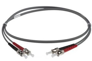 10m ST-ST 62.5/125um - 3mm duplex patchcord GREY